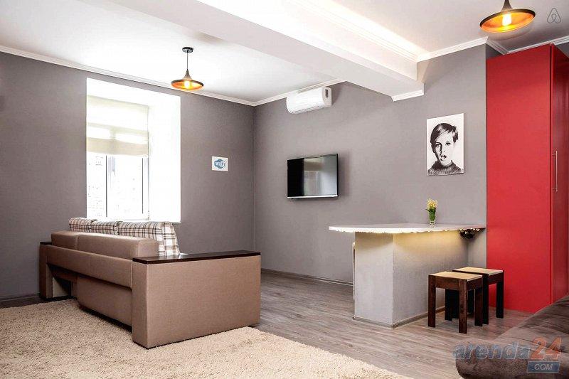 Дизайнерская 1-к Евро квартира посуточно, Центр, ЖД, Автовокзал (4)
