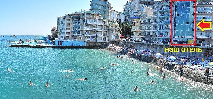 Утес Крым отели эллинги возле моря Санта Барбара снять жилье